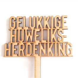 Gelukkige Huweliksherdenking Pic (36cm)