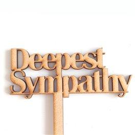 Deepest Sympathy Pic (36cm)