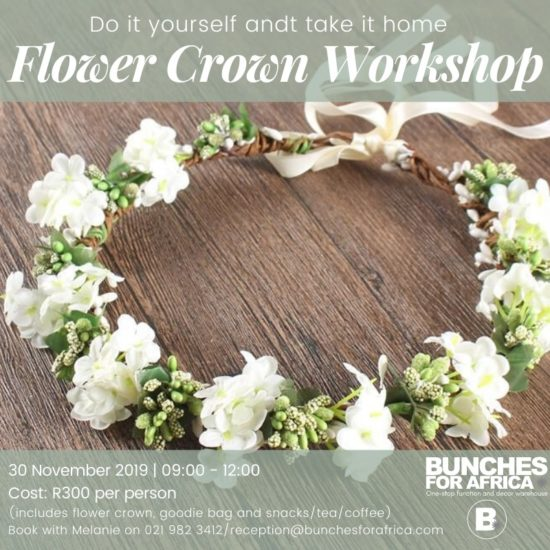 Bunches for Africa Western Cape Floral Workshops