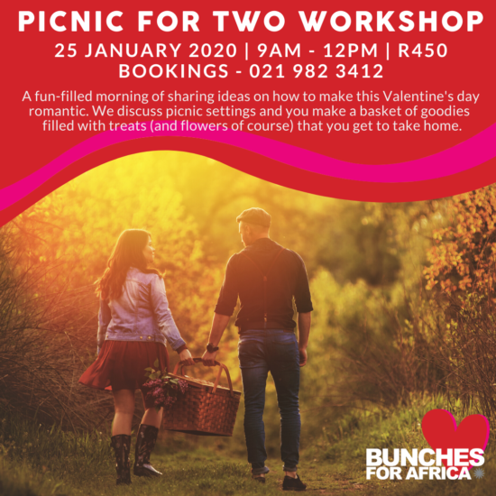 Bunches for Africa Western Cape Floral 25 January 2020 Workshop - Picnic for Two