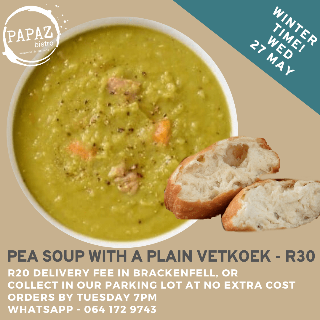 Meal of the day 27 May 2020 - Papaz Bistro - Bunches for Africa Western Cape