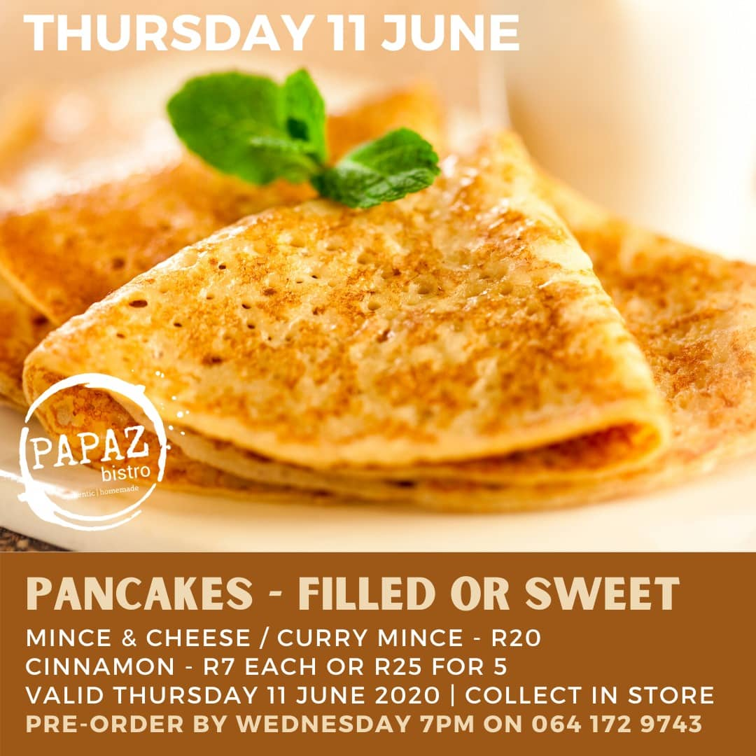Meal of the day 11 June 2020 - Papaz Bistro - Bunches for Africa Western Cape