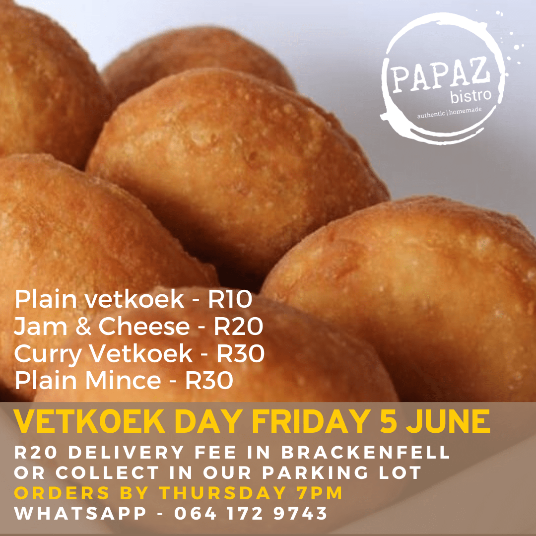 Meal of the day 5 June 2020 - Papaz Bistro - Bunches for Africa Western Cape