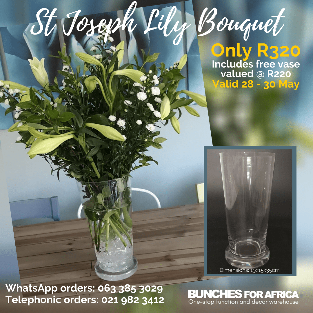 St Joseph's Lily special - Bunches for Africa Western Cape