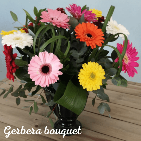 Gerbera Bouquet with FREE vase