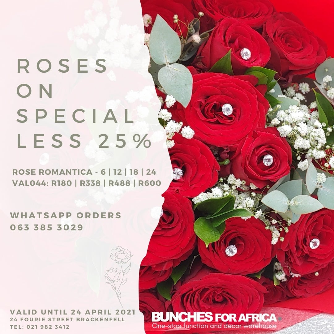 Roses Special Bunches for Africa